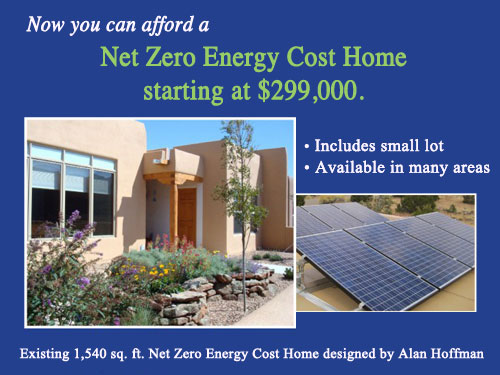 Santa fe net zero energy cost homes for Zero net energy home